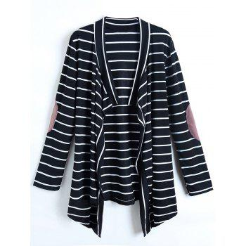 Casual Collarless Striped Long Sleeve Women's Cardigan