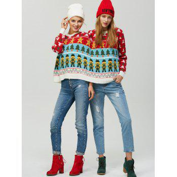 Graphic Two Person Christmas Sweater