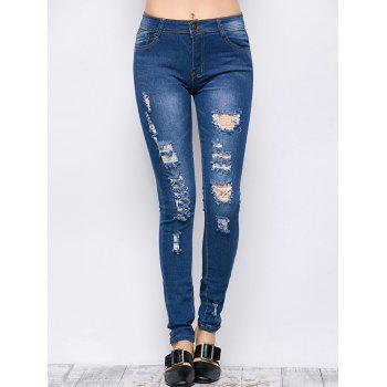Mid Rise Ripped Skinny Jeans - S S