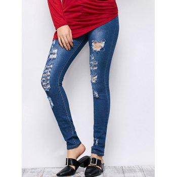 Mid Rise Ripped Skinny Jeans