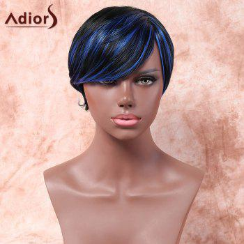 Adiors Short Highlight Side Parting Silky Straight Bob Synthetic Wig