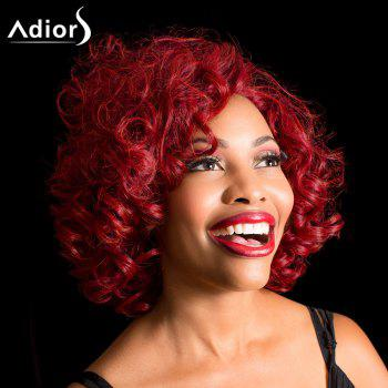 Adiors Inclined Parting Short Fluffy Curly Synthetic Wig