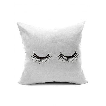 Eyelash Pattern Cushion Cover Pillow Case