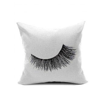 Concise Eyelash Pattern Cushion Cover Pillow Case