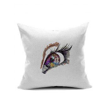 Eye Pattern Back Cushion Cover Throw Pillow Case