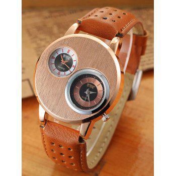 Big Case Double Dial Analog Watch
