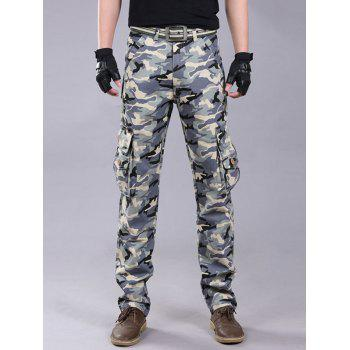Camo Pockets Zipper Fly Cargo Pants