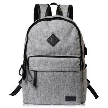 Zipper Canvas Backpack