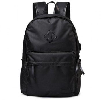 Zipper Nylon Backpack