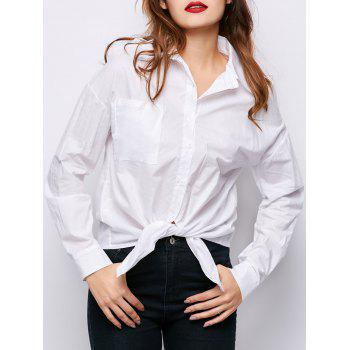 Cold Shoulder One Pocket Shirt