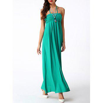 Halter Neck Long Empire Waist Prom Dress