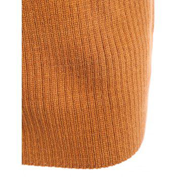 High Neck Ribbed Min Sweater Dress - ONE SIZE ONE SIZE