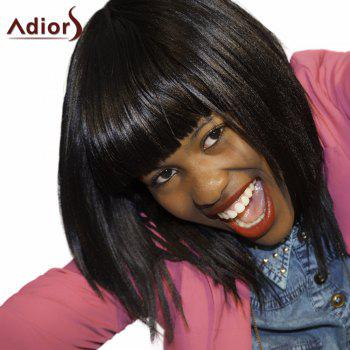 Adiors Neat Bang Medium Silky Straight Bob Synthetic Wig