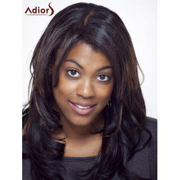 Adiors Long Colormix Side Parting Wavy Shaggy Synthetic Wig