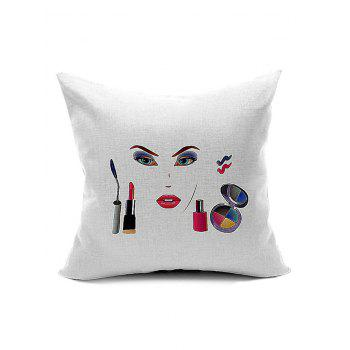 Women Cosmetic Pattern Cushion Throw Pillow Case