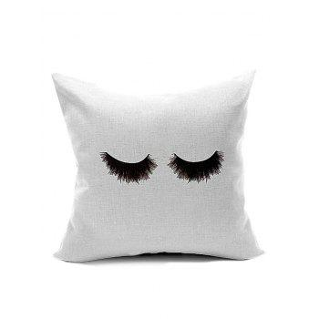 Eyelash Pattern Velboa Throw Pillow Case