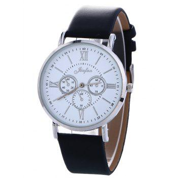 Faux Leather Roman numeral Analog Quartz Watch