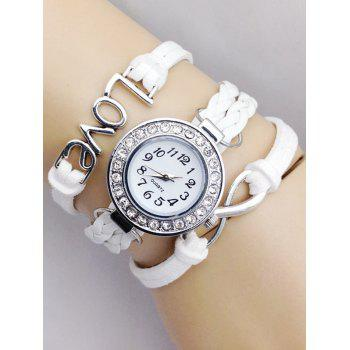 Infinite Love Braided Quartz Bracelet Watch