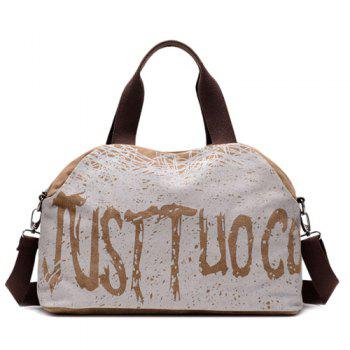 Casual Graphic Printed Canvas Tote Bag
