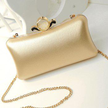 Chains Beaded PU Leather Evening Bag