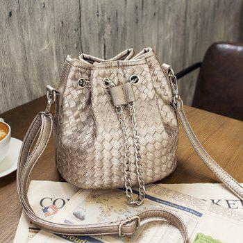 Woven Chains Bucket Bag