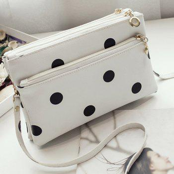 Faux Leather Polka Dot Cross Body Bag