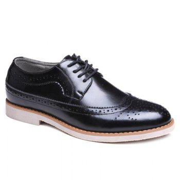 Tie Up Wingtip Formal Shoes - BLACK BLACK