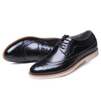 Tie Up Wingtip Formal Shoes - 41 41