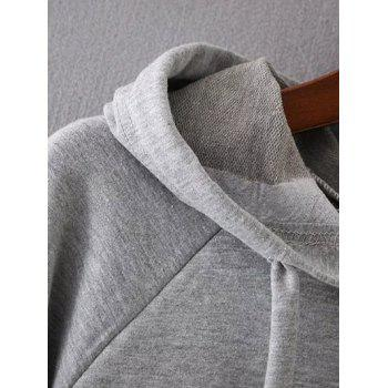 Bell Sleeve Pullover Hoodie - GRAY GRAY