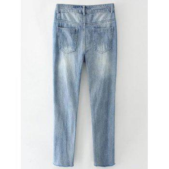 Light Wash Destroyed Jeans - M M