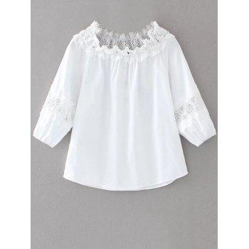 Pullover Lace Insert Top
