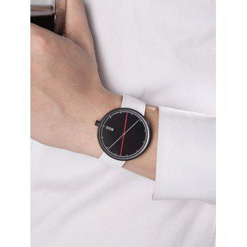 Faux Leather Big Dial Long Analog Watch