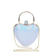 Rhinestones Heart Shape Evening Bag
