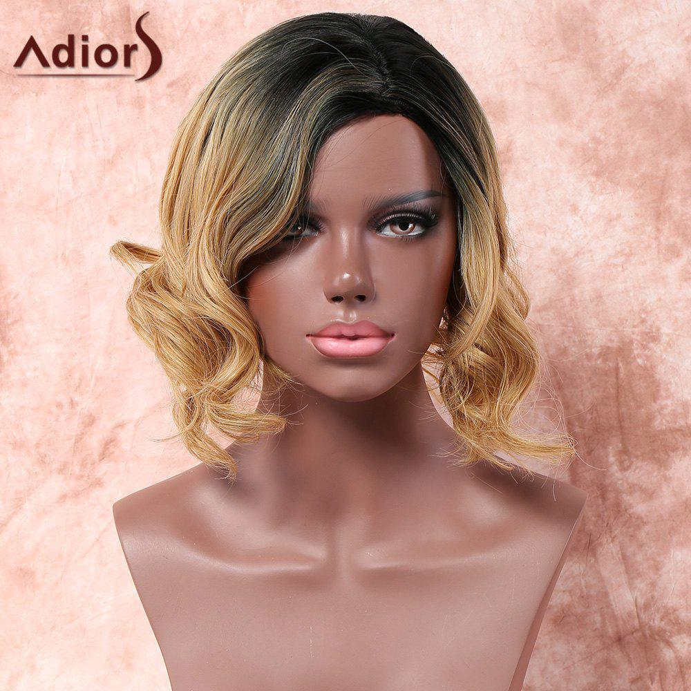 Adiors Side Parting Medium Shaggy Wavy Colormix Synthetic Wig adiors long middle parting shaggy wavy color mix synthetic party wig