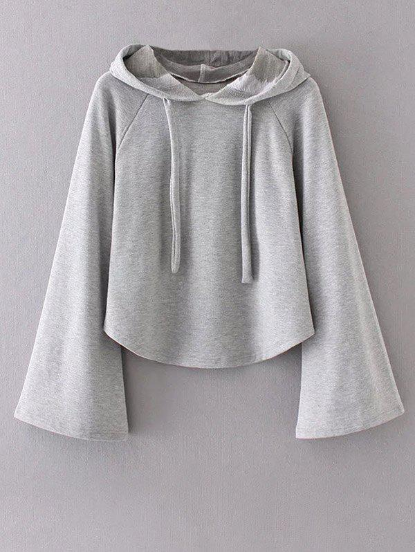 Bell Sleeve Pullover HoodieWomen<br><br><br>Size: S<br>Color: GRAY