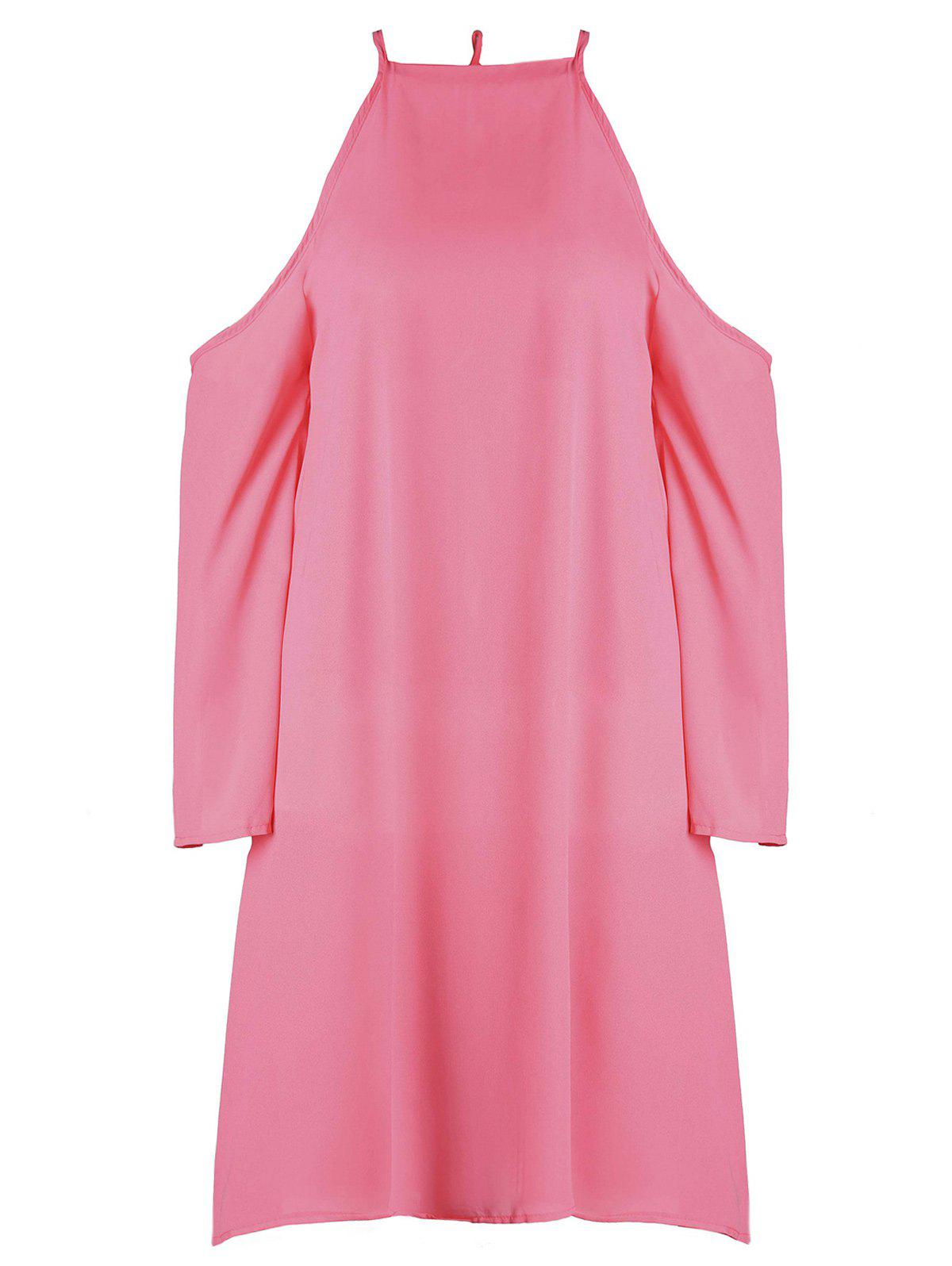 Sweet Red Round Collar A-Line Long Sleeve Dress For WomenWomen<br><br><br>Size: L<br>Color: RED