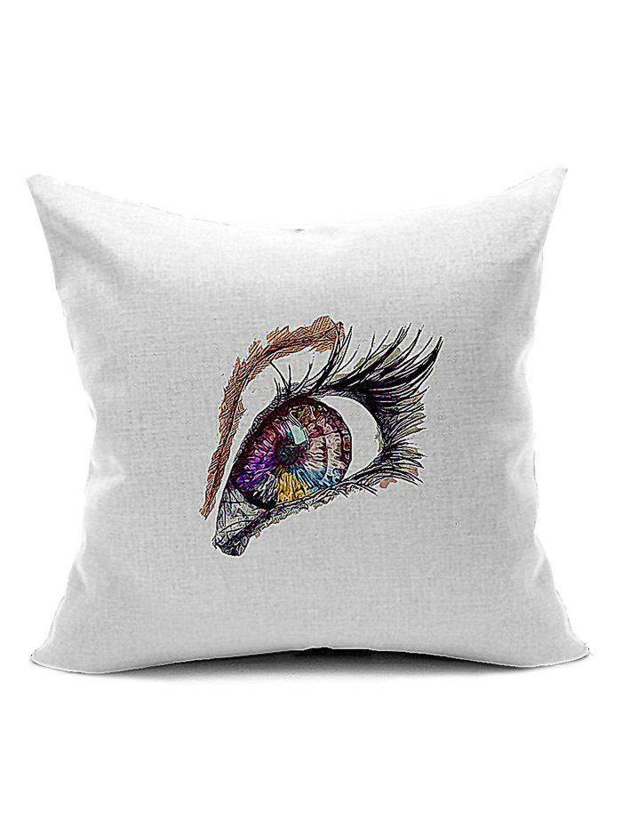 Decorative Pillows Recommendations : Eye Pattern Back Cushion Cover Throw Pillow Case, WHITE in Decorative Pillows & Shams ...