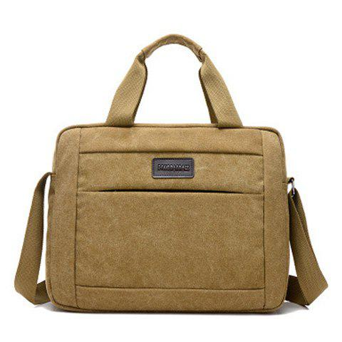 Cross Body Canvas Tote Bag - KHAKI
