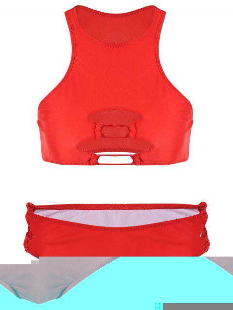 Cut Out Tankini Set - RED S