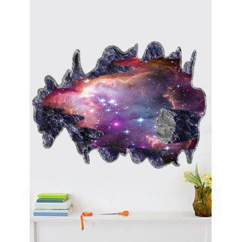 Removable Creative 3D Space Meteorites Bedroom Wall Sticker