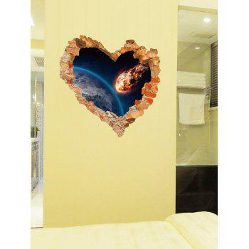 Removable Creative Removable 3D Love Broken Wall Sticker