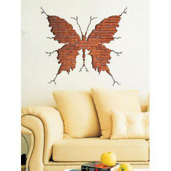 Removable Creative Removable 3D Butterfly Broken Wall Sticker