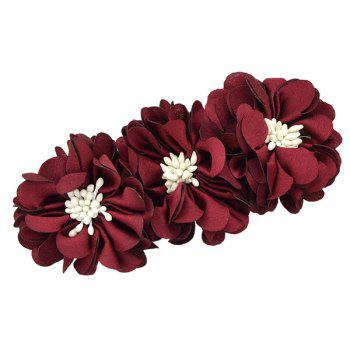 Floral Embellished Alloy Barrette