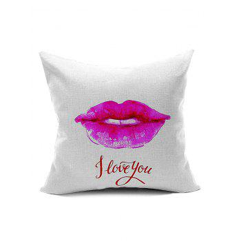 Lip Pattern Back Cushion Throw Pillow Case