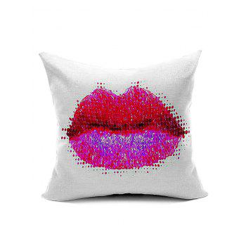 Lip Pattern Decorative Pillow Case