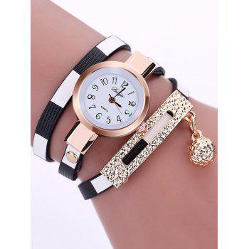 Tinkle Bell Pendant Numerals Bracelet Wrap Watch
