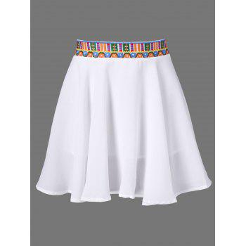 Embroidered Elastic Waist Skirt