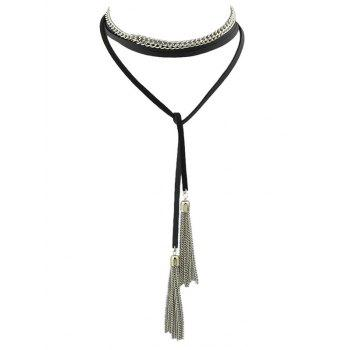 Tassel Layered Wrap Choker Necklace