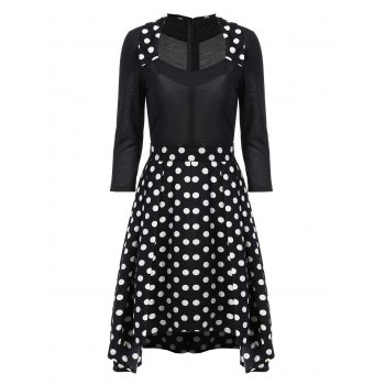 Flare Retro Dress In Polka Dot