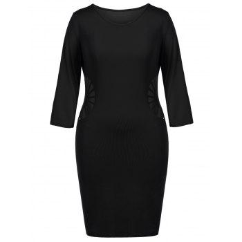 Cut Out Sheath Plus Dress